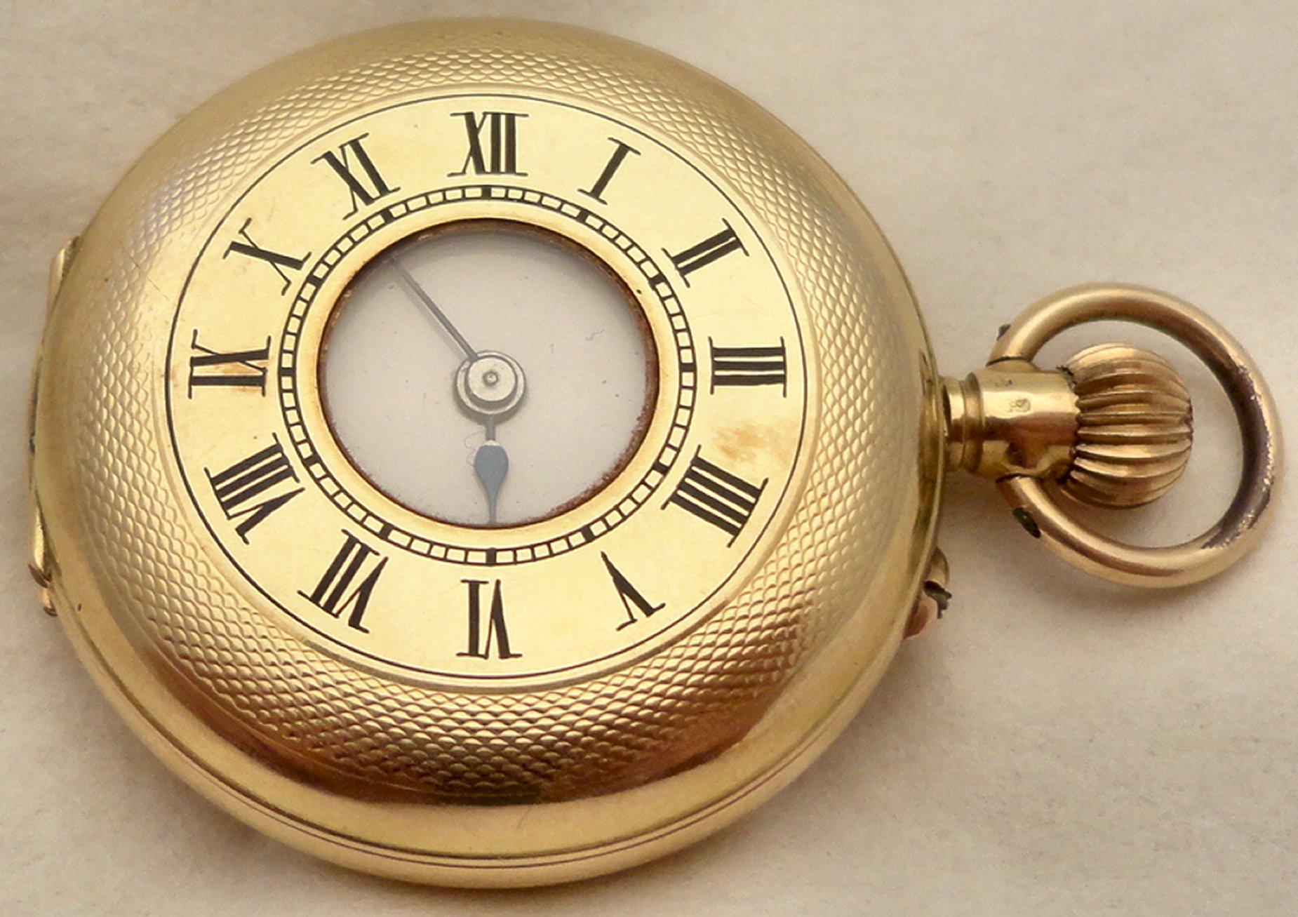 antique 14ct gold half keyless fob ian