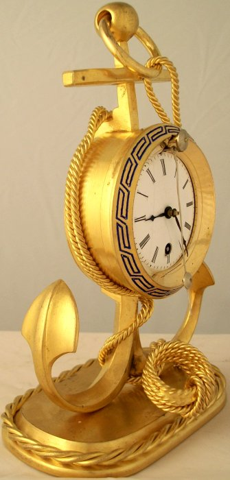 Small Antique Zappler Desk Clock Ian Burton Antique Clocks