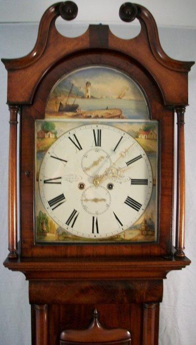 Antique Scottish Mahogany Longcase Clock Ian Burton