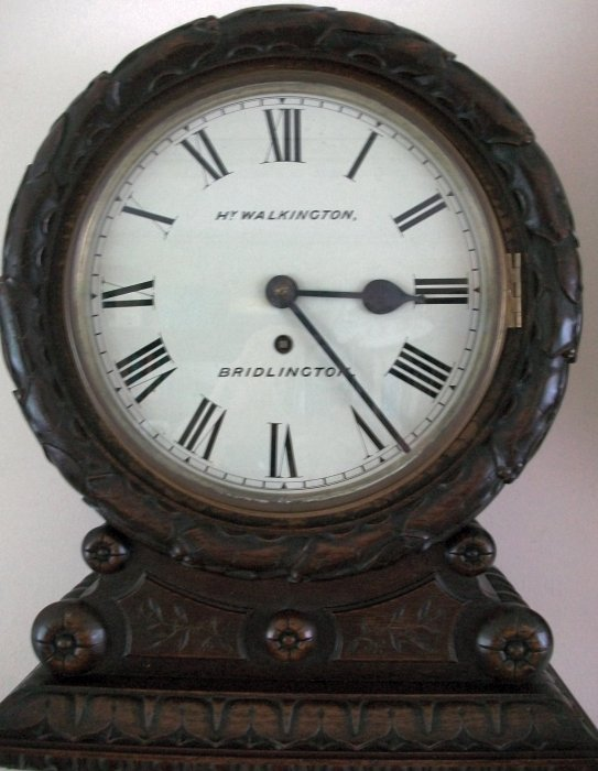 Antique Carved Fusee Wall Clock Hy Walkington