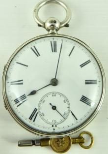 Antique Victorian Scottish Silver Fusee Pocket Watch By